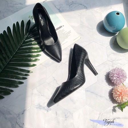 Giày Cao gót 9p si da rắn - C9-26001