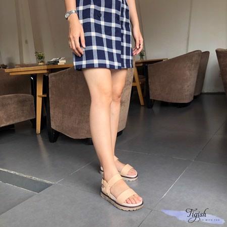 Giày Sandal 3p đế đúc giả vân đá bảng ngang - MS: 10001