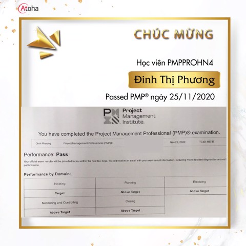 Đinh Thị Phương, PMPPROHN4, Pass PMP on the first try 4AT