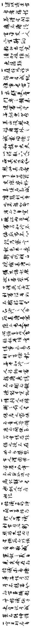 Văn Trưng Minh Hành Thảo Thư (Quá Đình Phục Ngôn Thập Tiết Quyển
