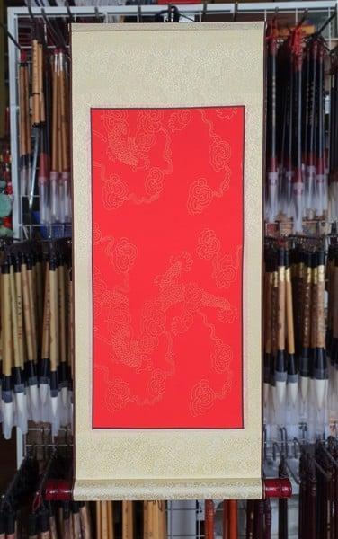 Biểu thư pháp nút gỗ 30x80cm