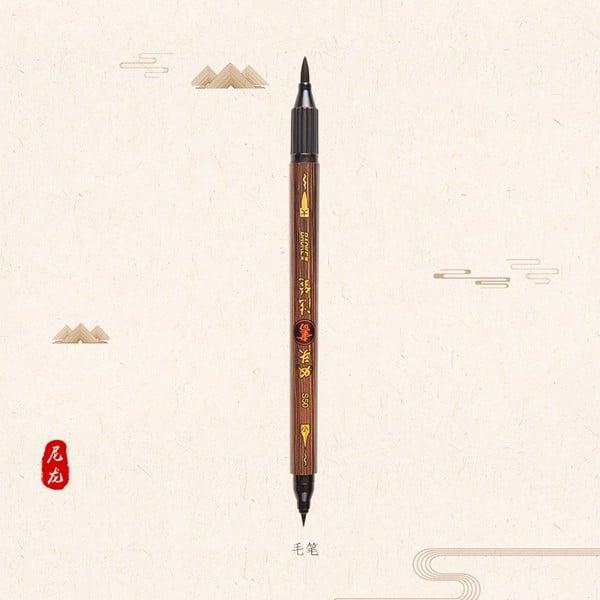 Bút viết thư pháp ngòi mềm 02 đầu Baoke