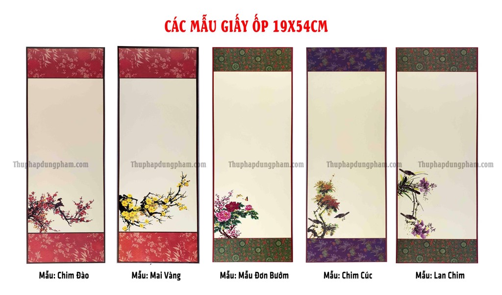Các mẫu giấy ốp 19x54cm