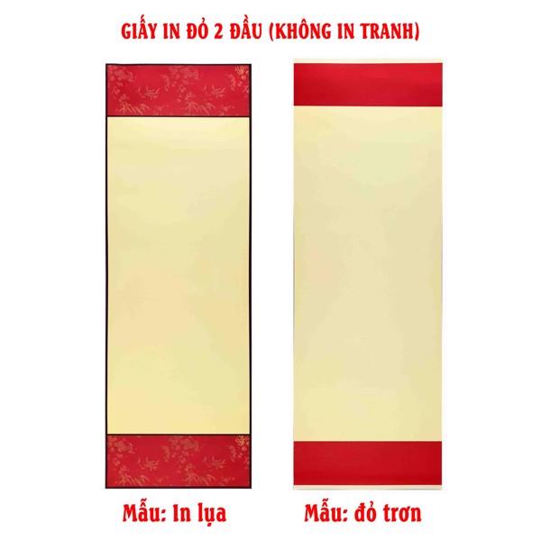 Liễn giấy in đỏ 2 đầu