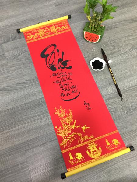 Giấy Ganh Đỏ viết thư pháp 27x79 cm