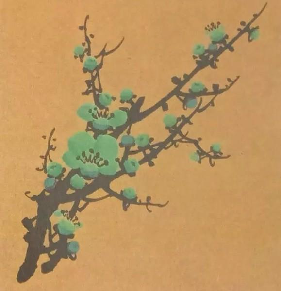 Hướng dẫn vẽ hoa mai màu xanh