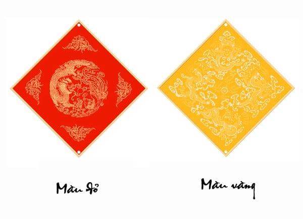 Thẻ giấy xuyến chỉ nhuộm sáp hình vuông