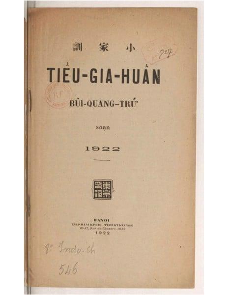 Tiểu Gia Huấn - Bùi Quang Trú