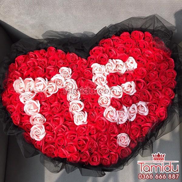 hoa hồng sáp tặng mẹ