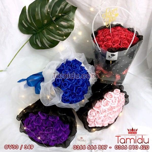 hoa hồng sáp 30 bông