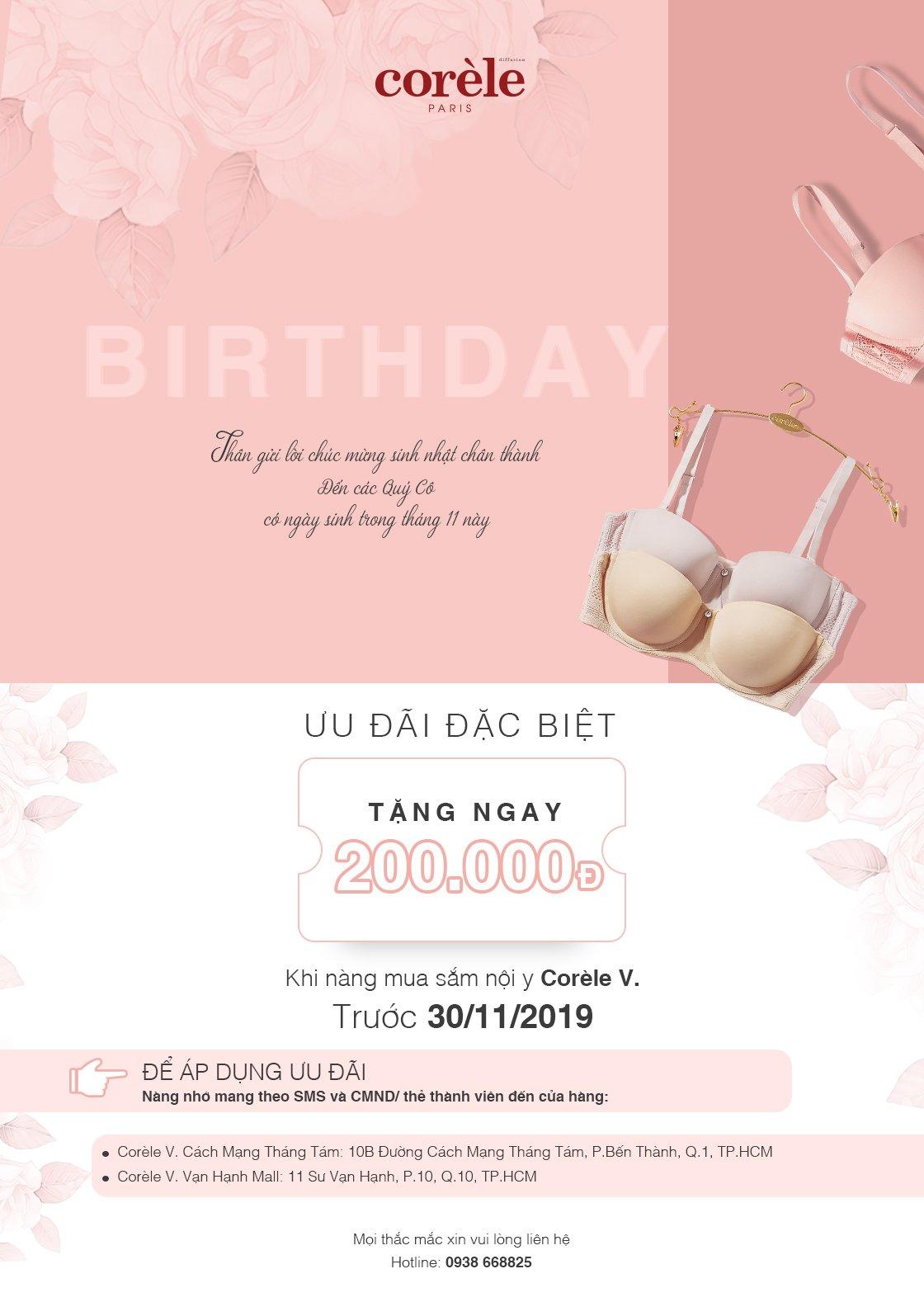 Corele V Member Birthday 11/2019