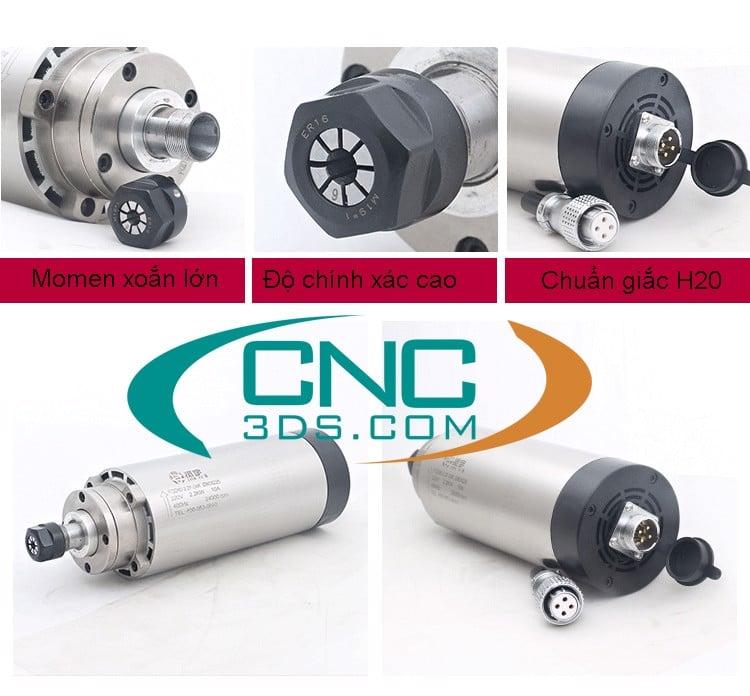 Spindle cnc giải nhiệt gió 800w - 5.5kw
