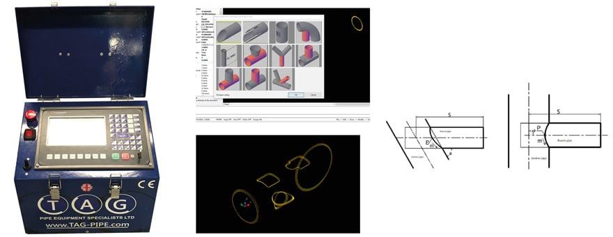 Máy cắt NC Plasma tạo hình trên thân ống TAG