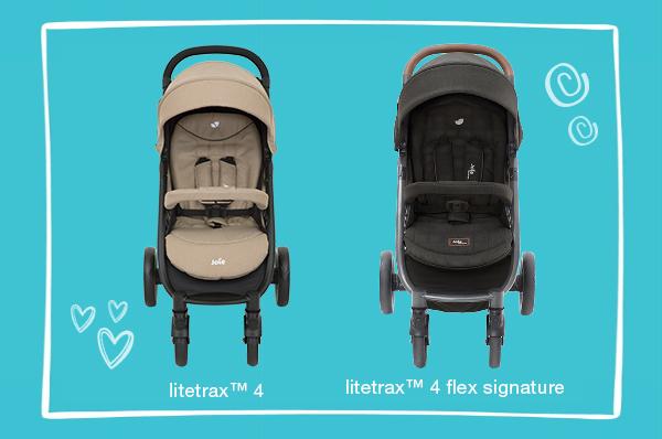 So sánh xe đẩy trẻ em Joie litetrax™ 4 và Joie litetrax™ 4 flex signature
