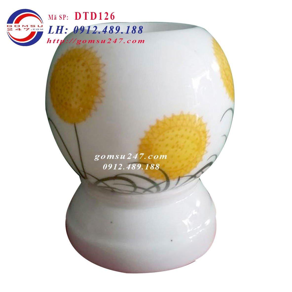 Địa chỉ bán đèn xông hương tinh dầu - Đèn xông tinh dầu vẽ hoa