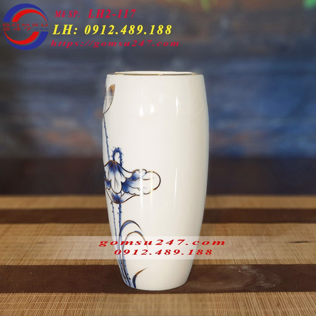 Cách chọn mẫu lọ hoa sứ trắng để in logo quà tặng