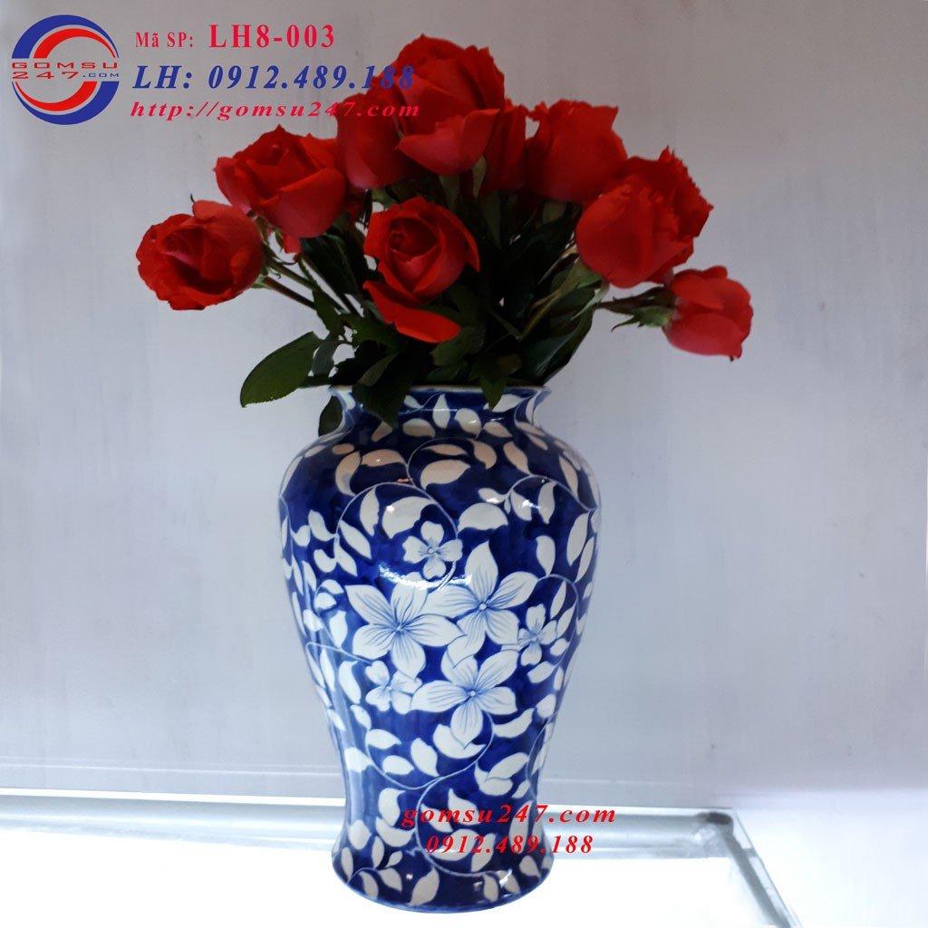 Lọ cắm hoa đẹp gốm sứ Bát Tràng
