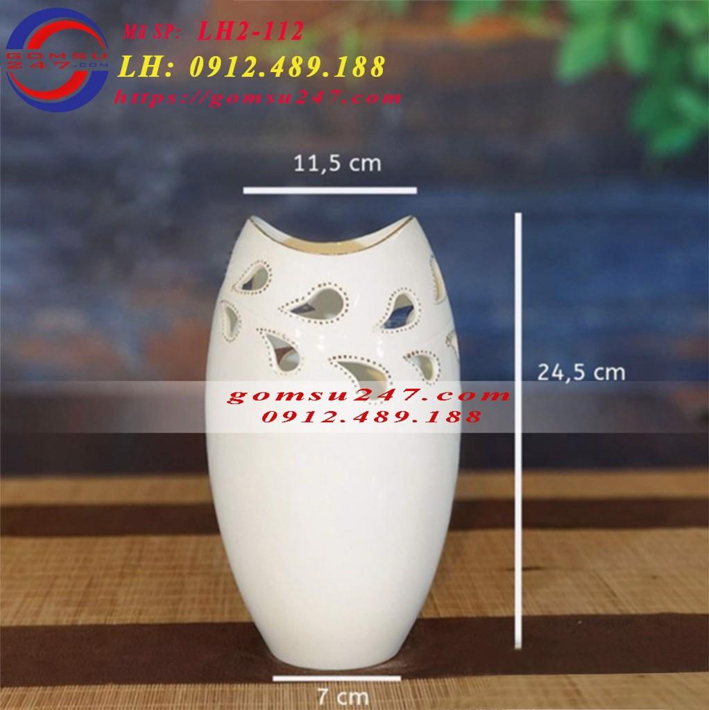 Cơ sở sản xuất lọ hoa Bát Tràng, lọ hoa sứ trắng