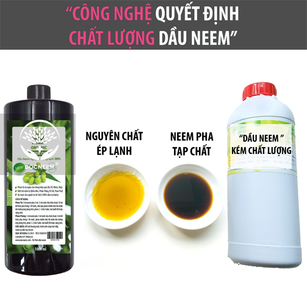 Phương pháp nhũ hóa dầu Neem an toàn với nước bồ hòn