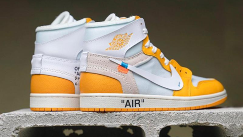 "OFF-WHITE x Air Jordan 1 ""Canary Yellow"" sắp ra mắt"