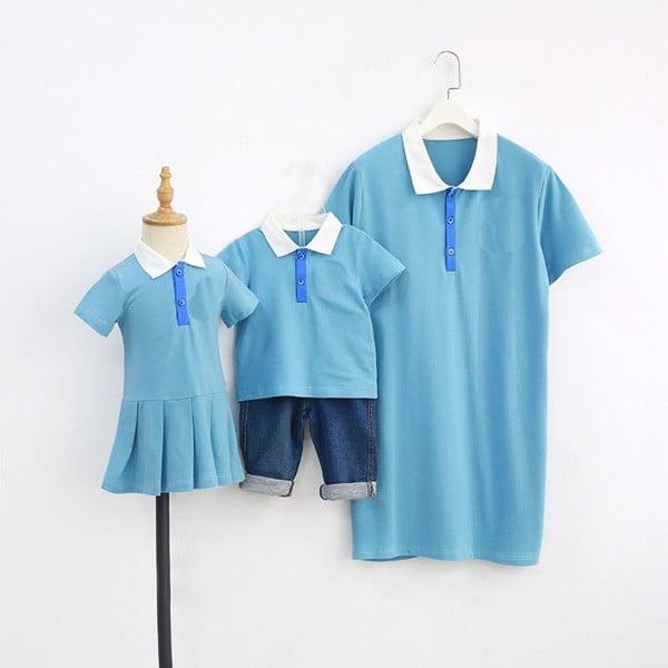 Set áo váy gia đình 3 người có cổ
