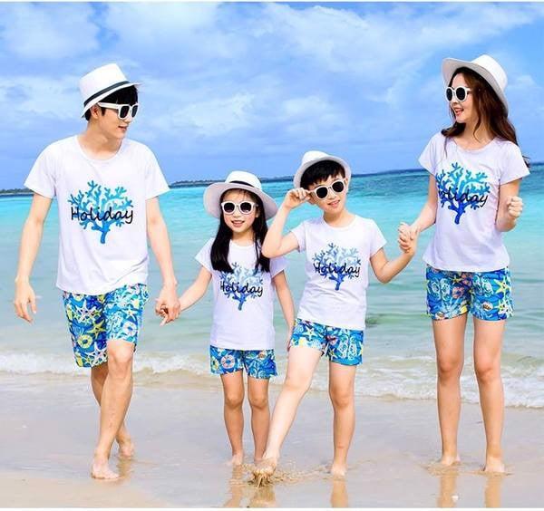 2_áo đồng phục gia đình đi biển đẹp, giá rẻ