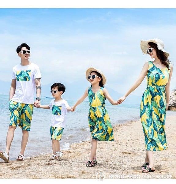 1_áo đồng phục gia đình đi biển đẹp, giá rẻ