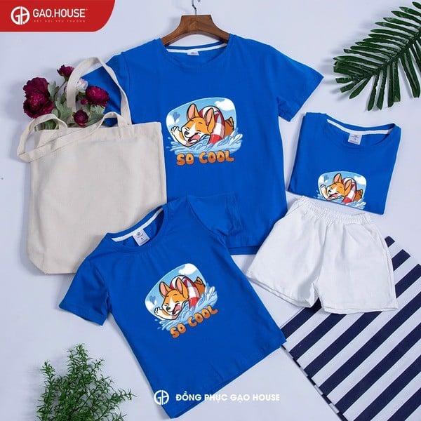 5_thiết kế áo gia đình cao cấp đẹp
