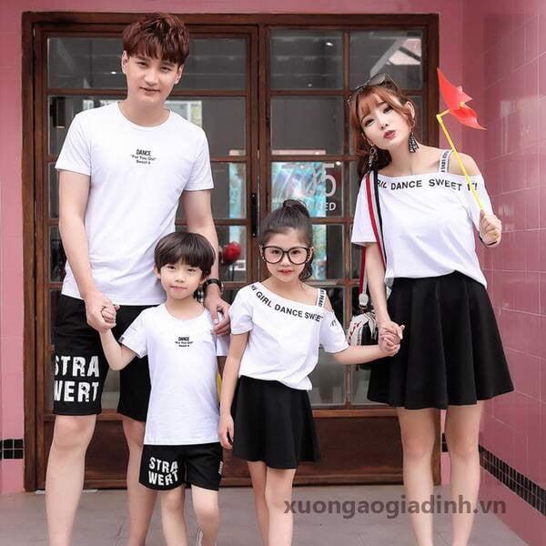 3_áo cặp đồng phục gia đình cao cấp 2020