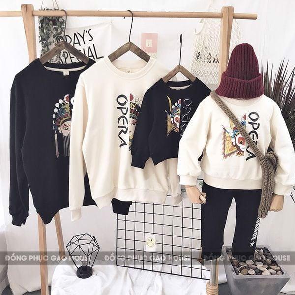 10_áo hoodie đồng phục gia đình mùa đông