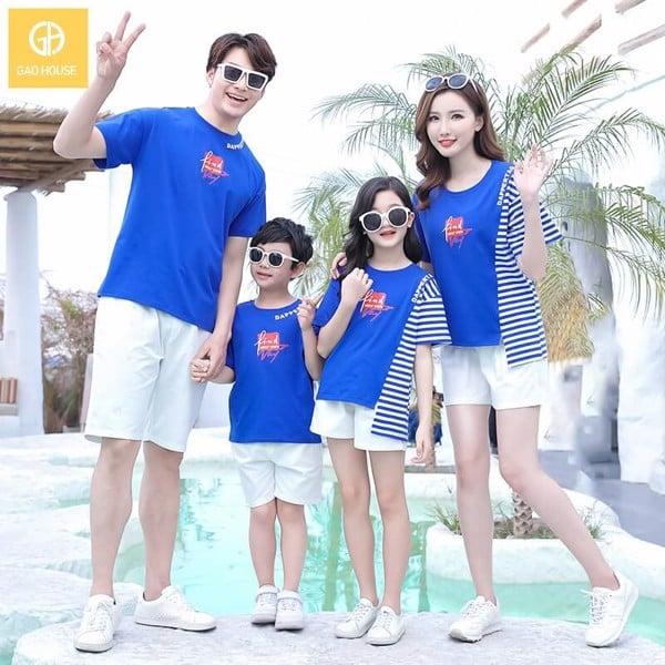 áo gia đình đi biển 4 người