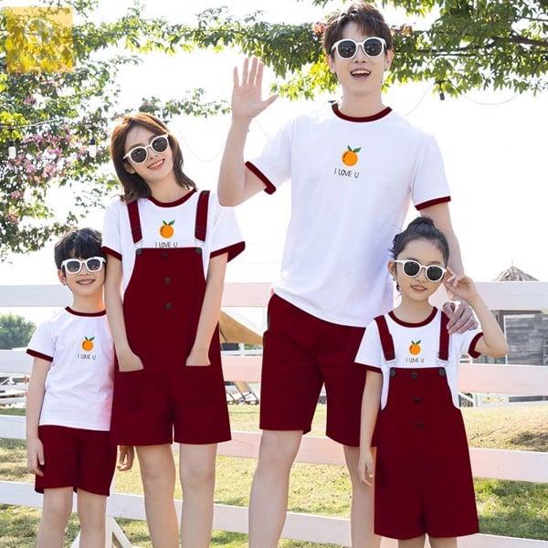 chọn set áo váy gia đình phù hợp sẽ tôn lên vóc dáng người mặc