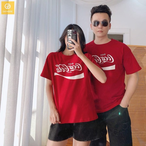 áo đôi gia đình màu đỏ