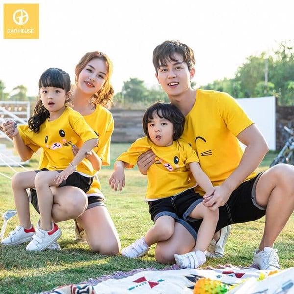 áo gia đình mùa hè 4 người