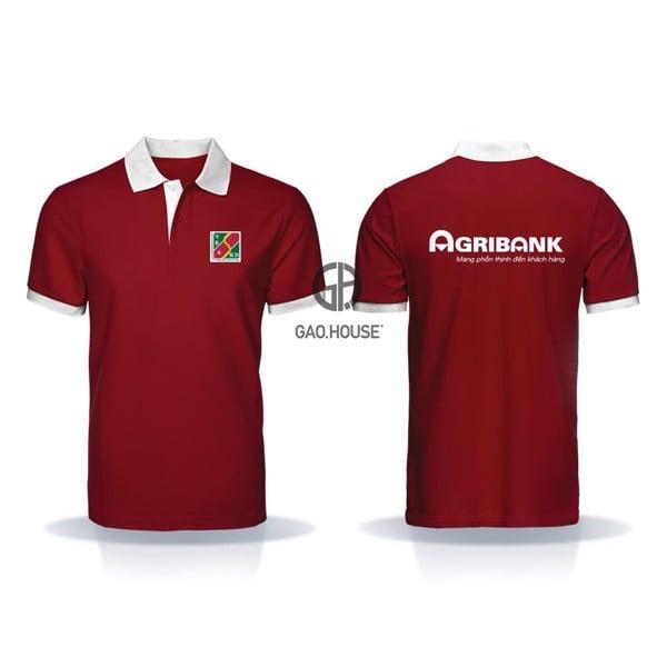 đồng phục ngân hàng agribank cổ trụ màu đỏ
