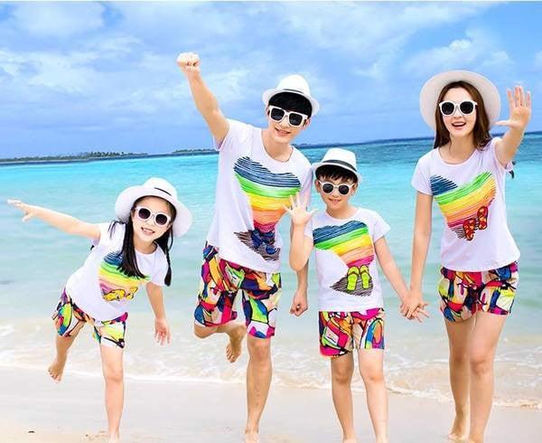 1_bộ đồ gia đình đi biển đẹp