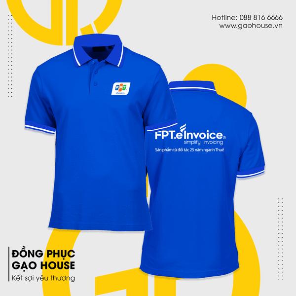 Mẫu áo thun đồng phục văn phòng cho nhân viên của FPT