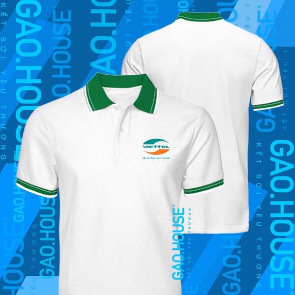Mẫu áo thun đồng phục văn phòng cho nhân viên của Viettel