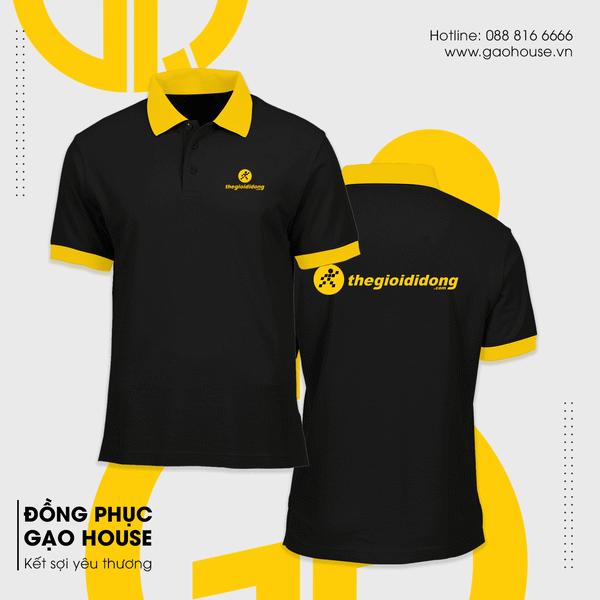 Mẫu áo thun đồng phục văn phòng cho nhân viên của thế giới di động