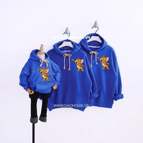 9_áo hoodie đồng phục gia đình mùa đông