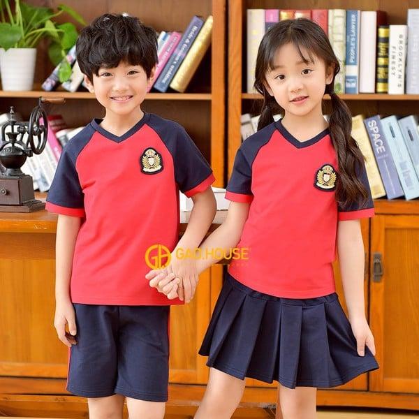 Đồng phục học sinh tiểu học áo phông