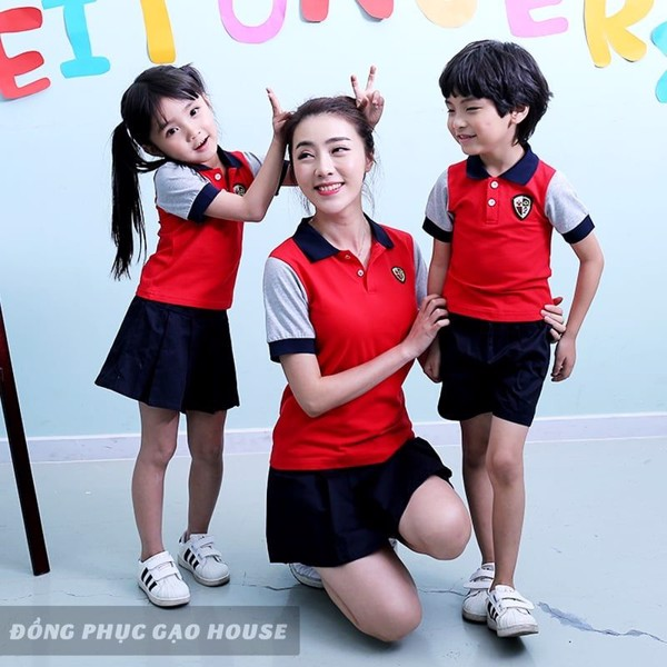 Đồng phục mầm non cho học sinh và cô giáo