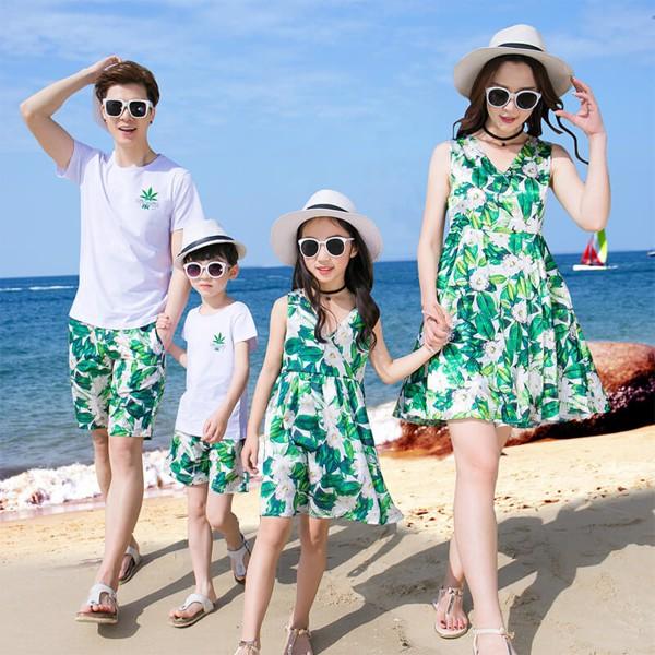 Áo váy gia đình đầm maxi