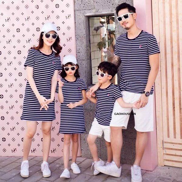 7_áo gia đình kẻ sọc ngang