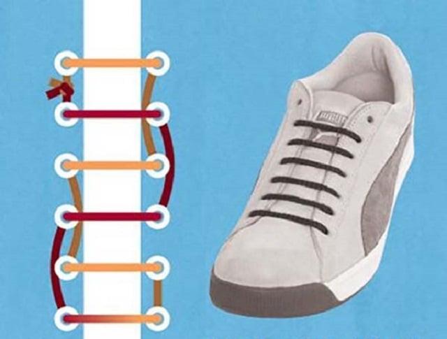 Dùng một góc dây giày