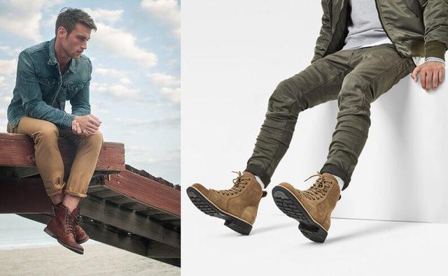 Phối giày cao cổ nam với quần kaki