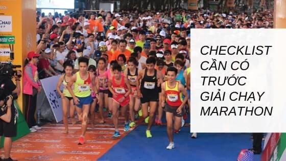 Checklist cần có trước giải chạy Marathon