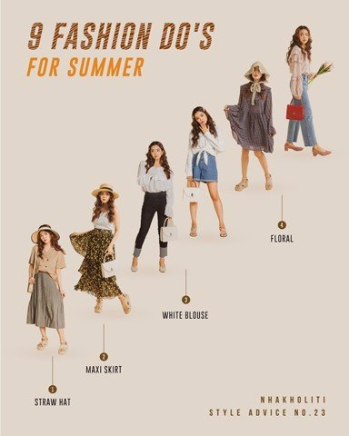 9 FASHION DO'S FOR SUMMER