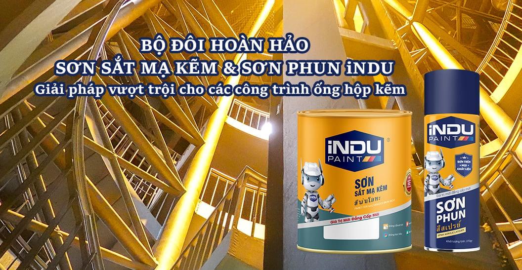 Sơn sắt mạ kẽm, sơn phun iNDU - Nhà phân phối sơn Ngọc Huy