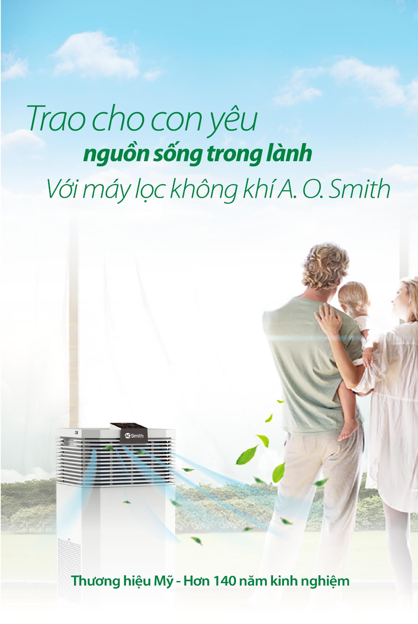 Trao cho con yêu - Nguồn sống trong lành - Với máy lọc không khí A.O.Smith